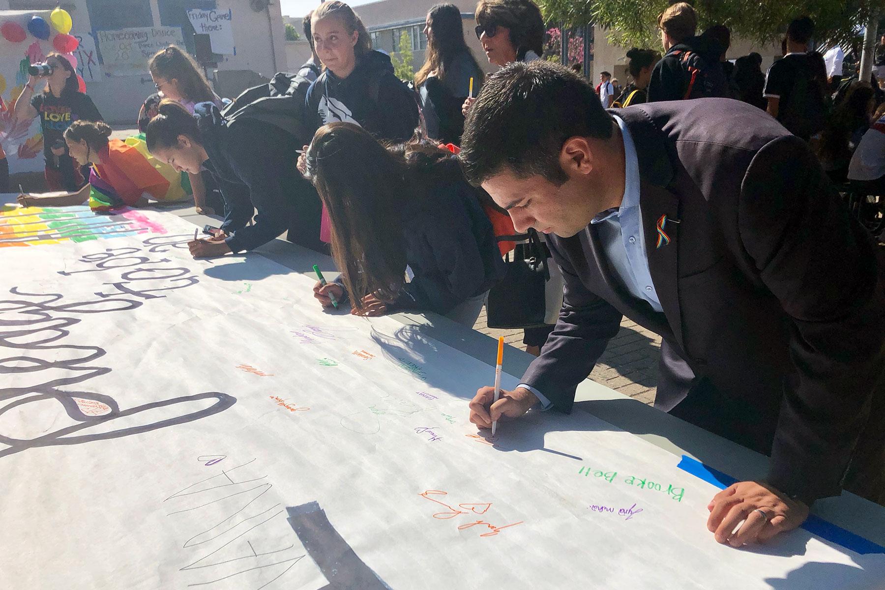 Crescenta Valley High School Ally Week September 2018